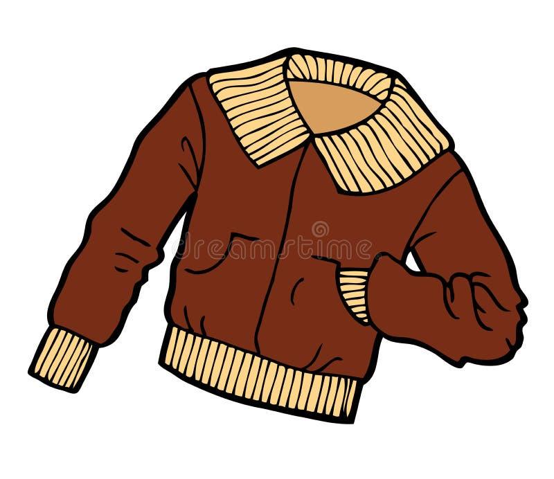 Desenhos animados do revestimento de Brown ilustração stock