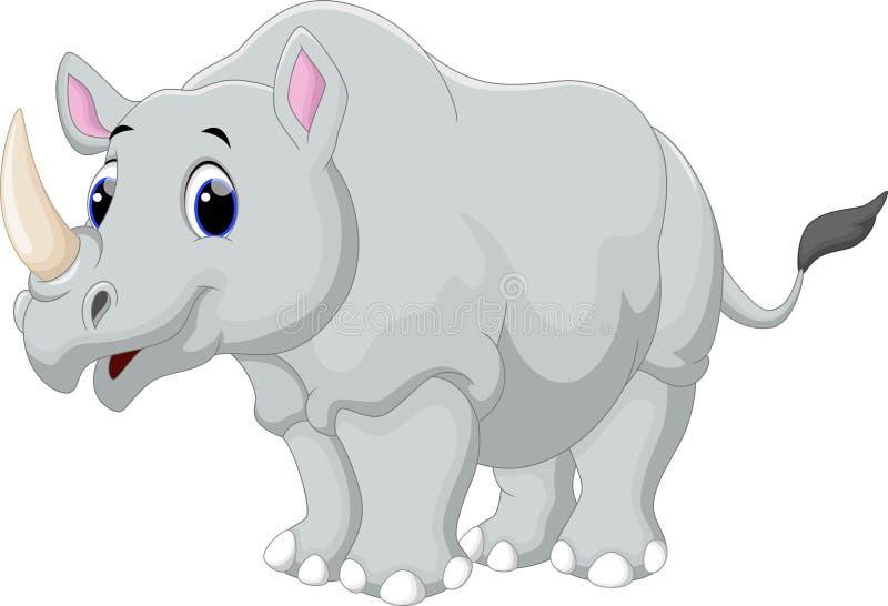 Desenhos animados do rinoceronte ilustração royalty free