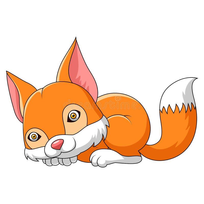 Desenhos animados do sono do Fox ilustração do vetor