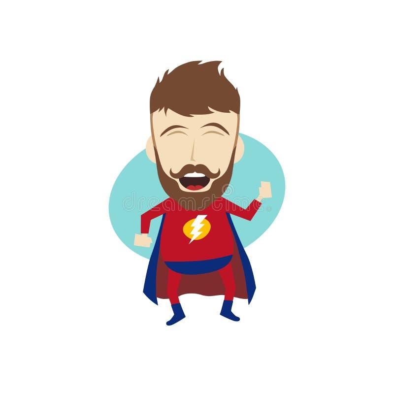 Desenhos animados do super-herói ilustração do vetor