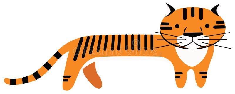 Desenhos animados do tigre ilustração stock