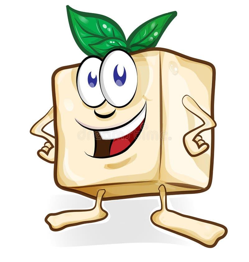 Desenhos animados do Tofu ilustração stock