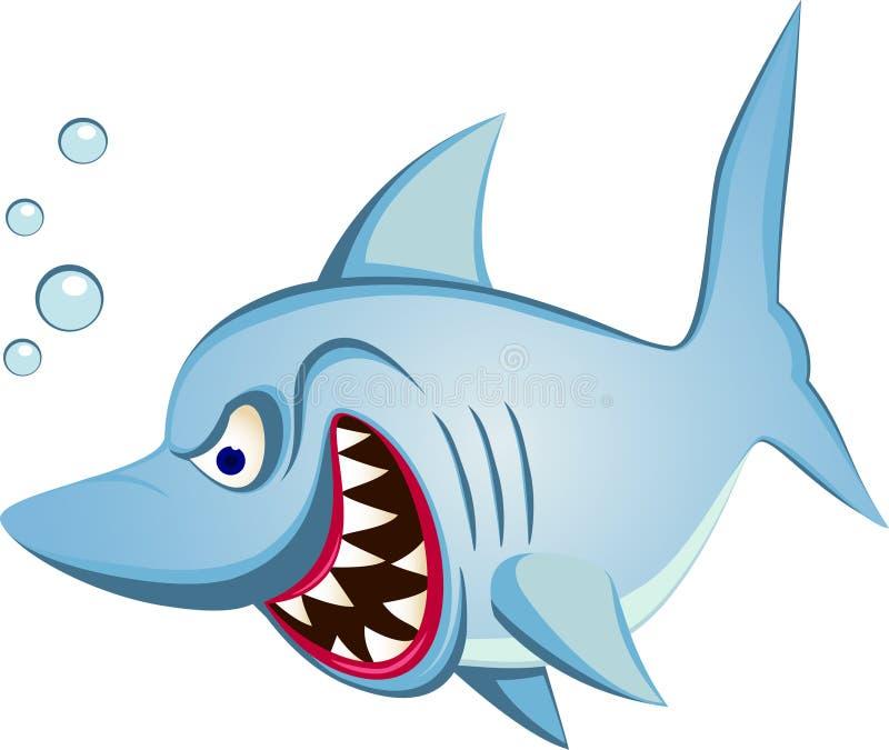 Desenhos Animados Do Tubarão Fotografia de Stock