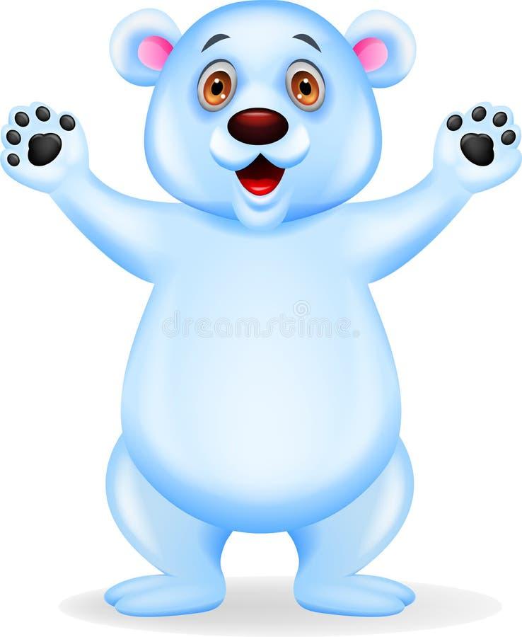Desenhos animados do urso polar ilustração do vetor