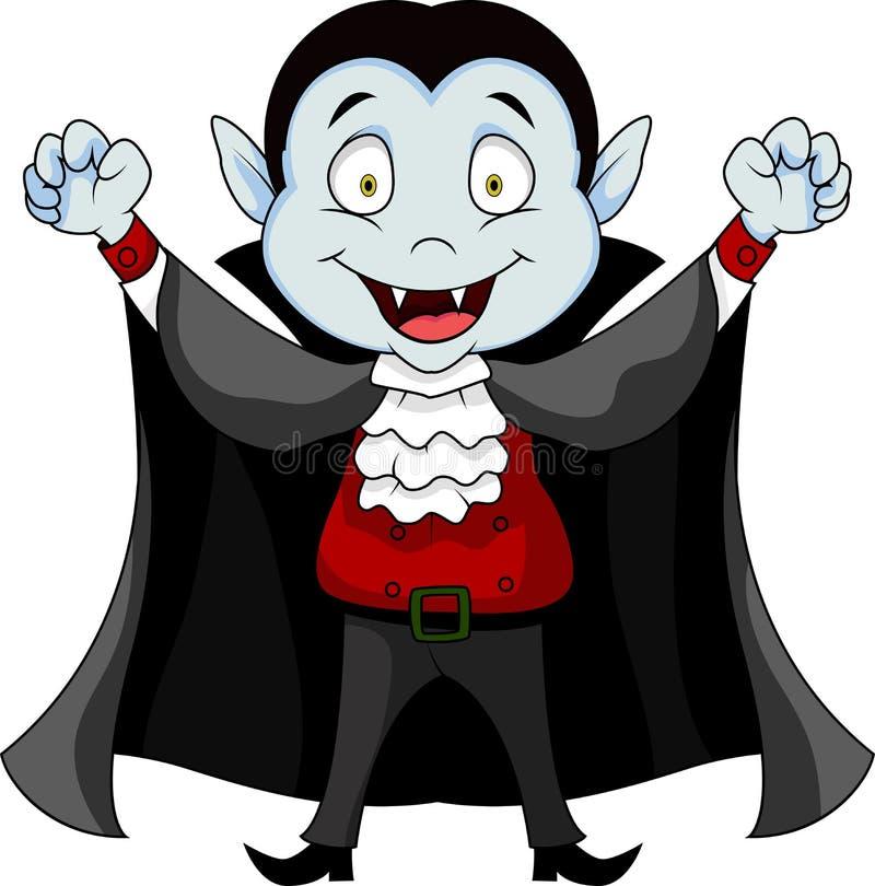 Desenhos animados do vampiro ilustração stock