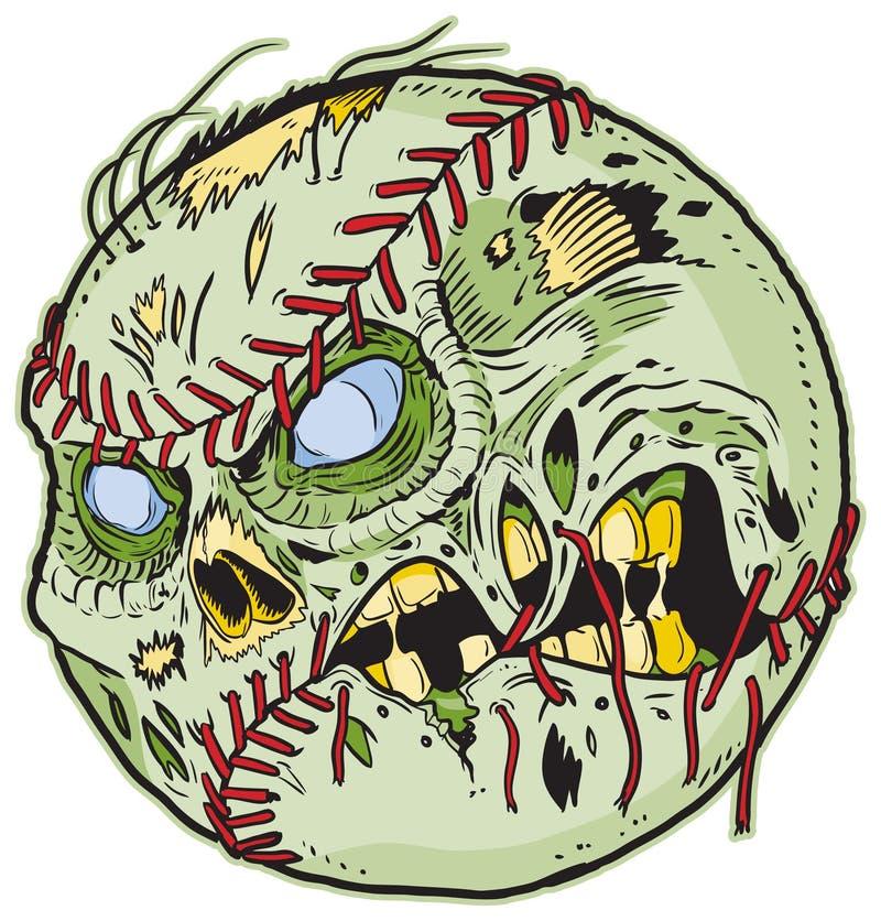 Desenhos animados do vetor do basebol do zombi ilustração do vetor