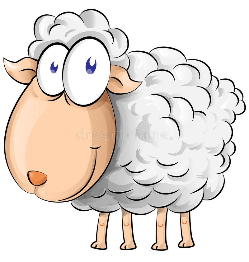 Desenhos animados dos carneiros ilustração stock