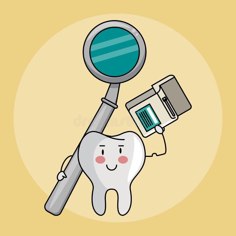 Desenhos animados dos cuidados dentários ilustração royalty free