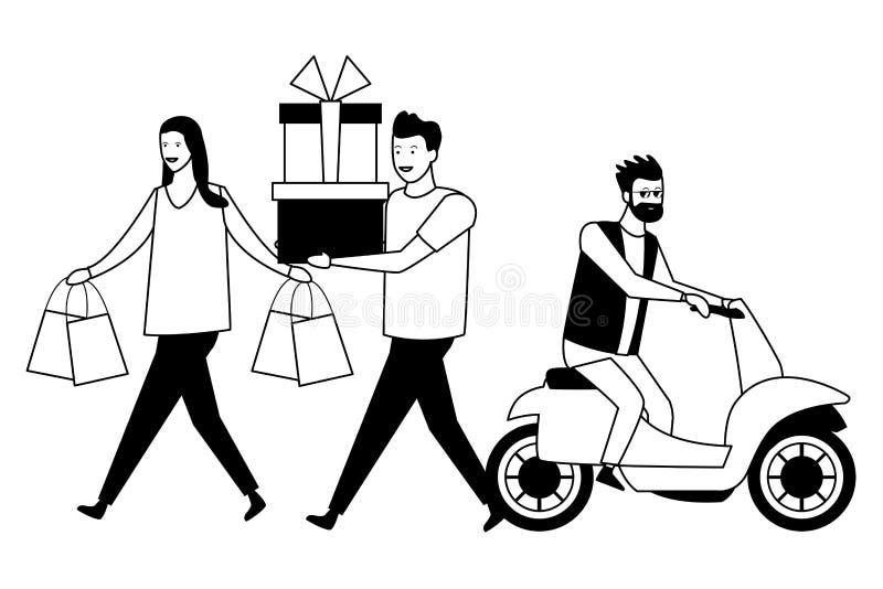 desenhos animados dos jovens ilustração royalty free