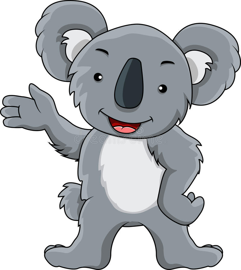 Desenhos animados engraçados do koala ilustração royalty free