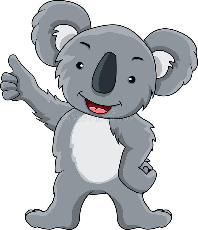 Desenhos animados engraçados do koala ilustração do vetor