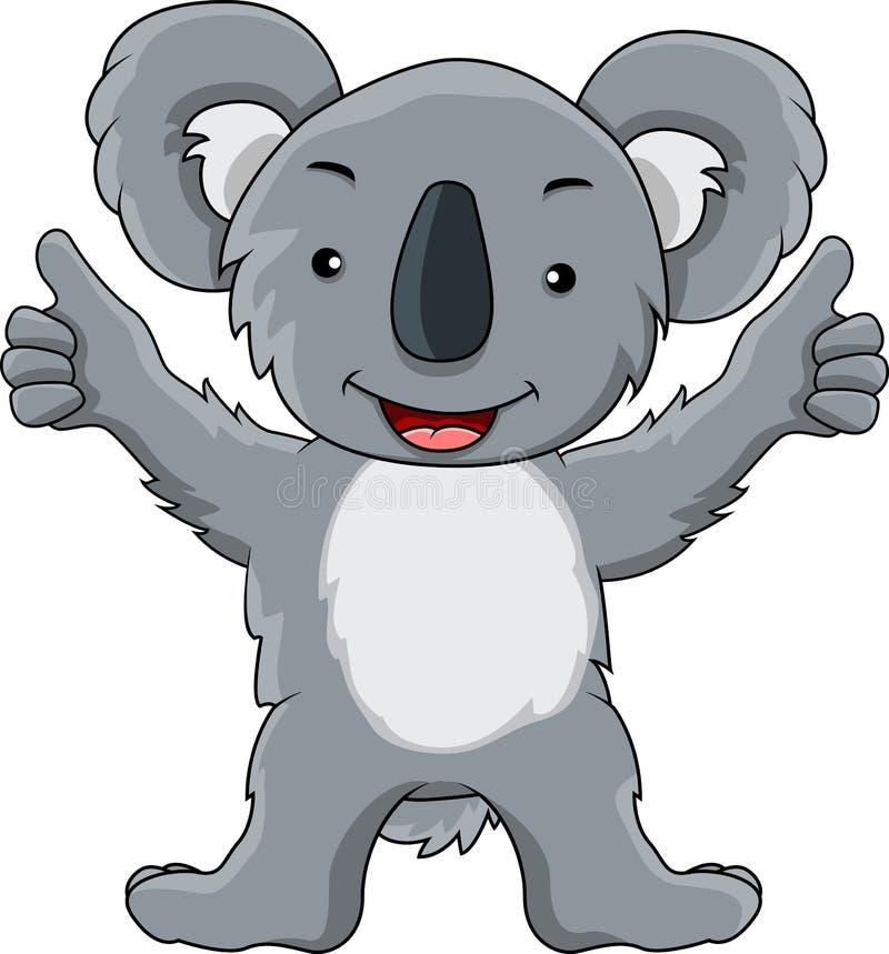 Desenhos animados engraçados do koala ilustração stock