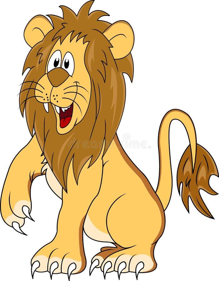 Desenhos animados engraçados do leão ilustração do vetor