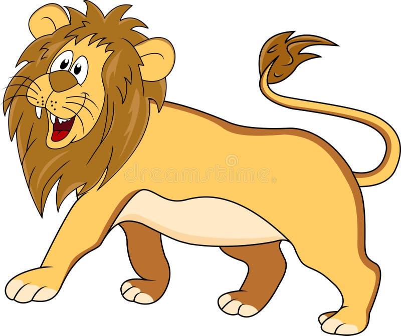 Desenhos animados engraçados do leão ilustração royalty free