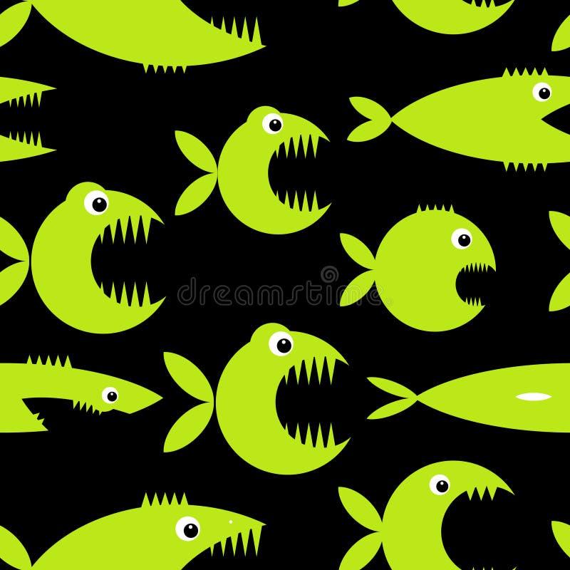 Desenhos animados engraçados dos peixes para seu projeto ilustração do vetor