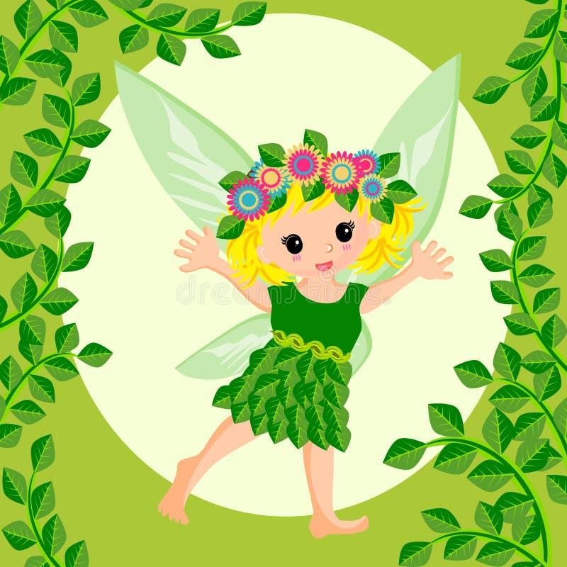 Desenhos animados feericamente bonitos ilustração royalty free