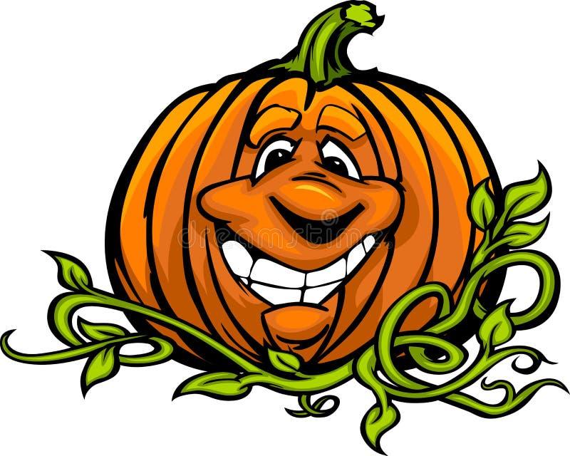 Desenhos animados felizes da abóbora da Jack-O-Lanterna de Halloween ilustração royalty free