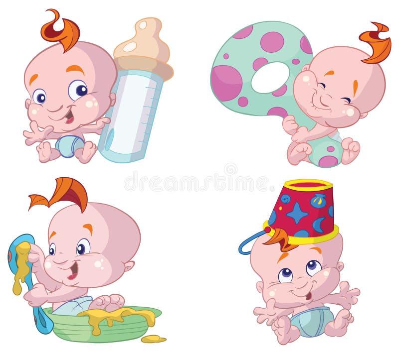 Desenhos animados felizes do bebê