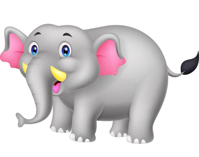 Desenhos animados felizes do elefante ilustração do vetor