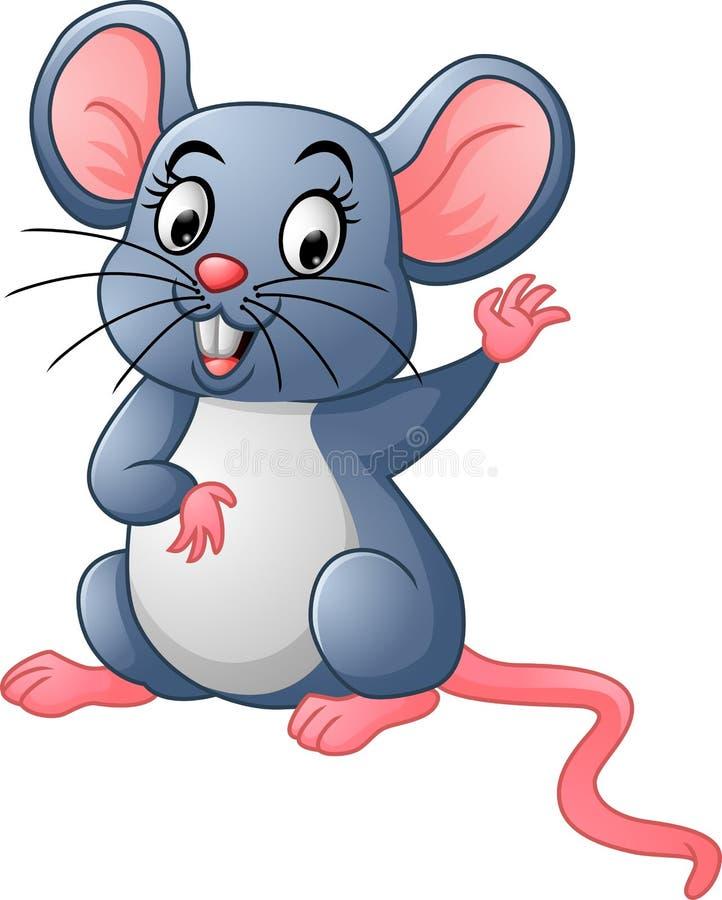 Desenhos animados felizes do rato ilustração royalty free