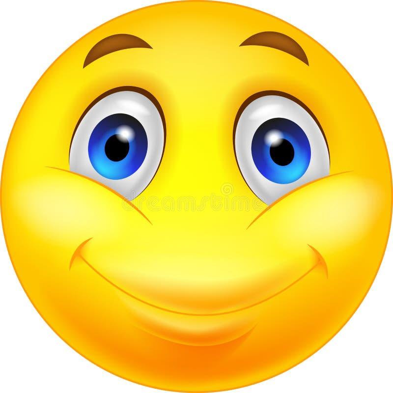 Desenhos animados felizes do smiley ilustração royalty free