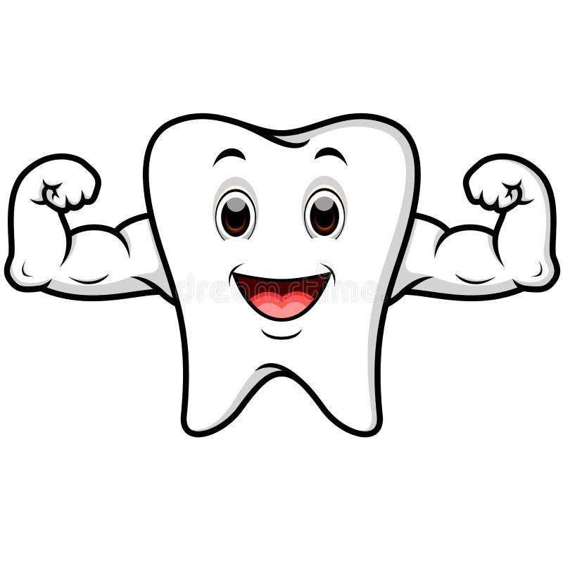 Desenhos animados fortes do dente ilustração royalty free