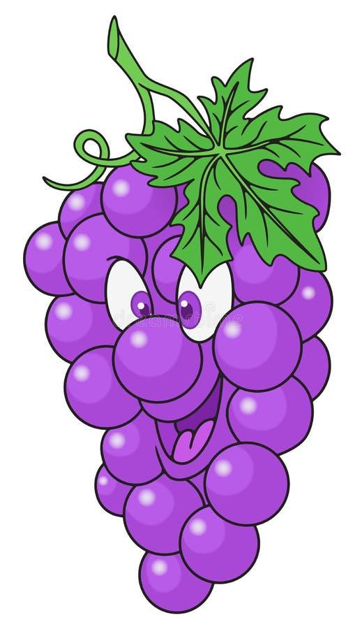 Desenhos animados frescos das uvas fotografia de stock