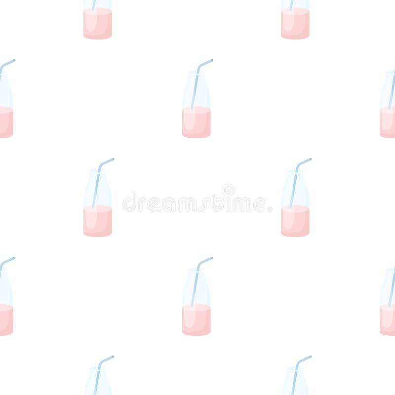 Desenhos animados líquidos do ícone do iogurte Único bio, eco, ícone orgânico do produto dos desenhos animados grandes do leite ilustração stock