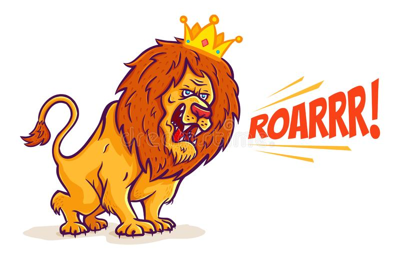 Desenhos animados Lion King ilustração stock
