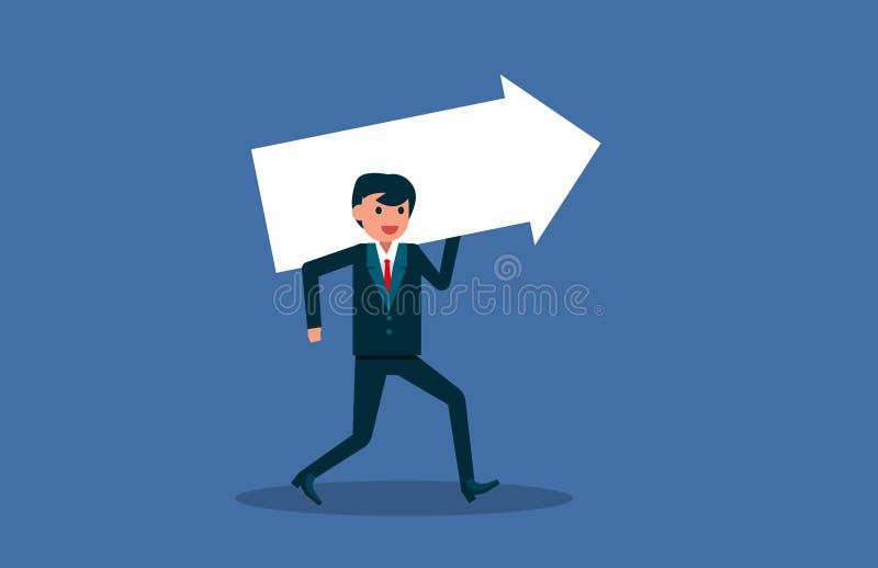 Desenhos animados lisos Caráter do sucesso comercial Ilustração do vetor ilustração do vetor