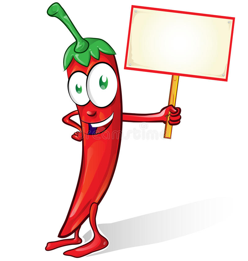 Desenhos animados mexicanos do pimentão ilustração stock