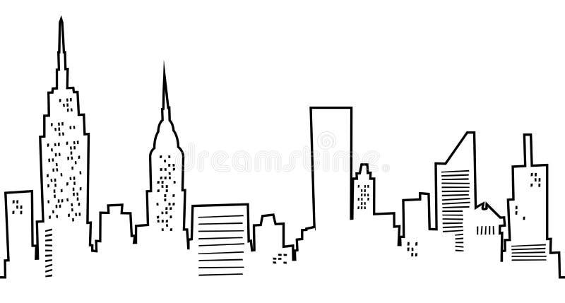 Desenhos animados New York City ilustração royalty free