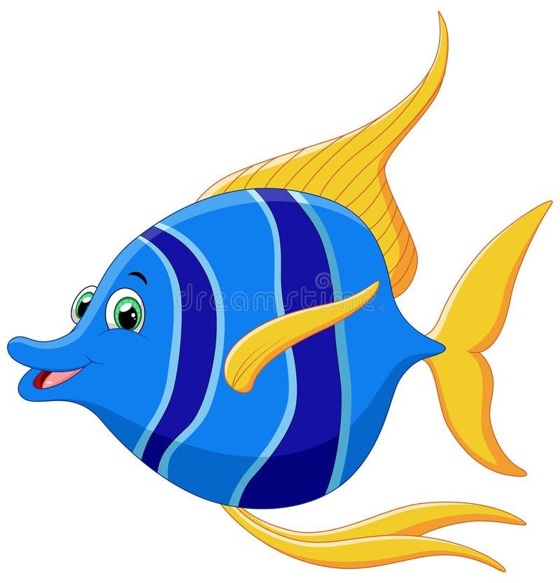 Desenhos animados pequenos dos peixes ilustração stock