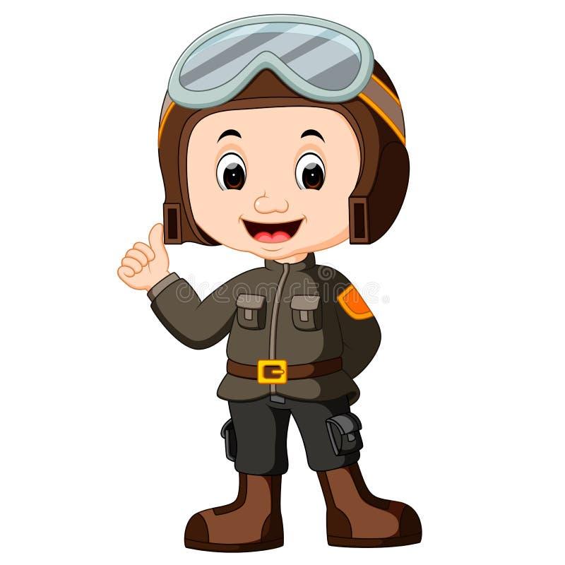 Desenhos animados piloto bonitos ilustração stock