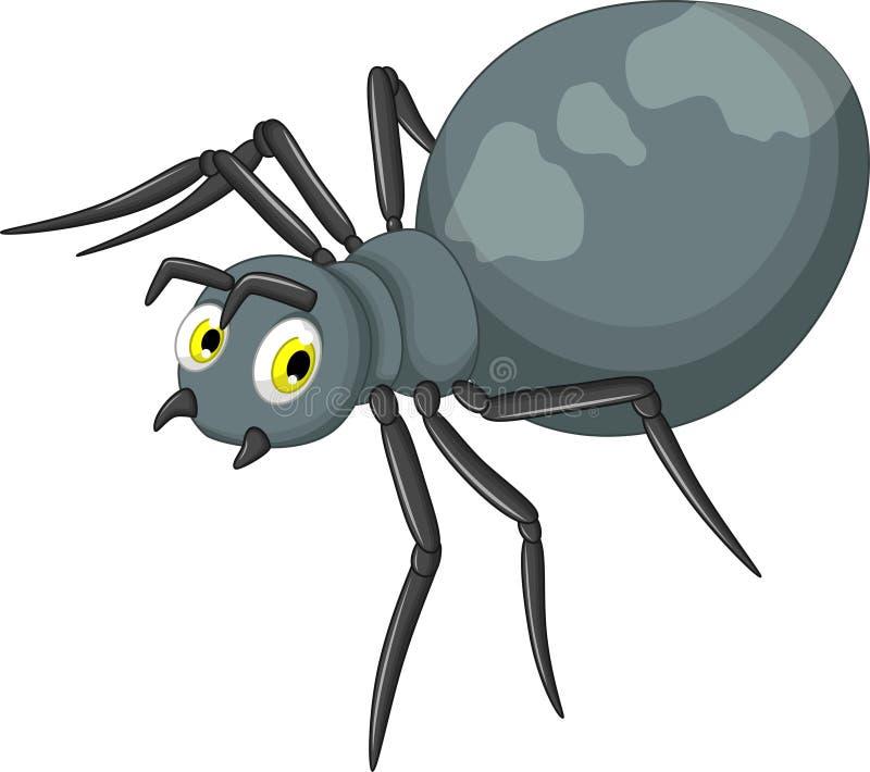 Desenhos animados pretos da aranha ilustração stock