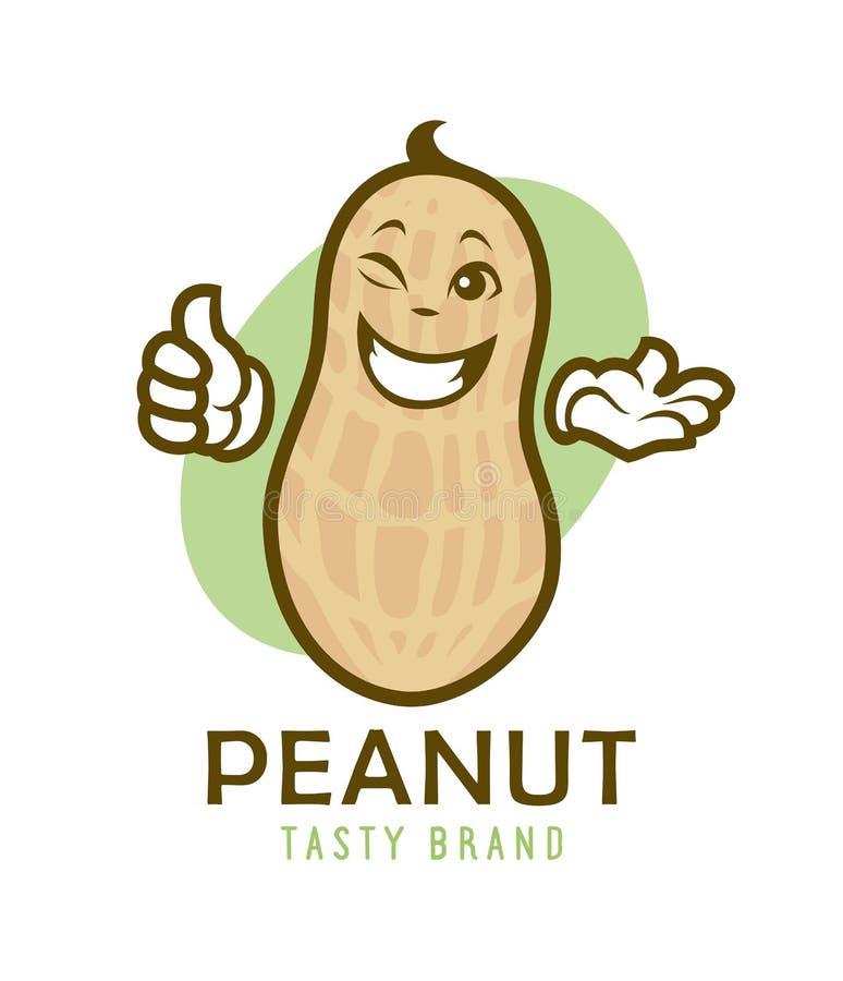 Desenhos animados que pisc o caráter do amendoim ilustração royalty free