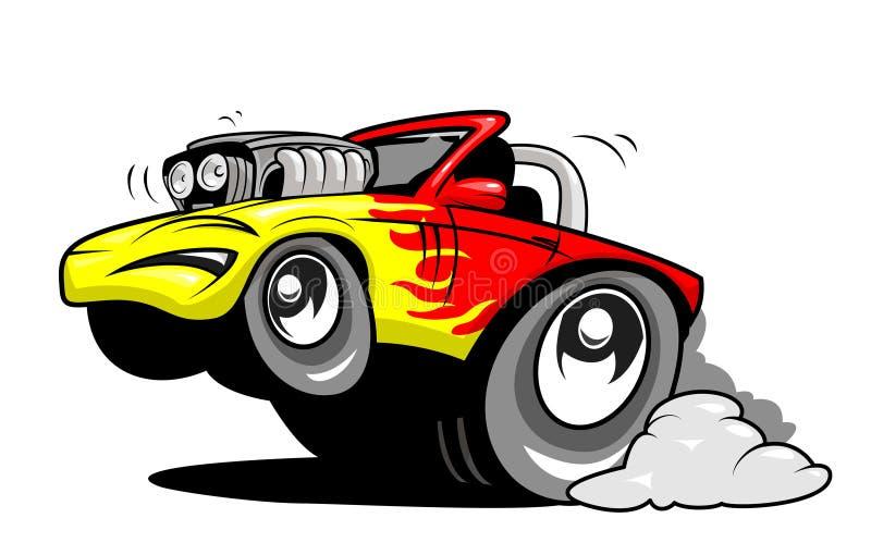 Desenhos animados Rod quente ilustração stock