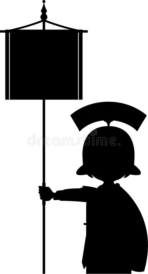 Desenhos animados Roman Soldier Silhouette ilustração royalty free