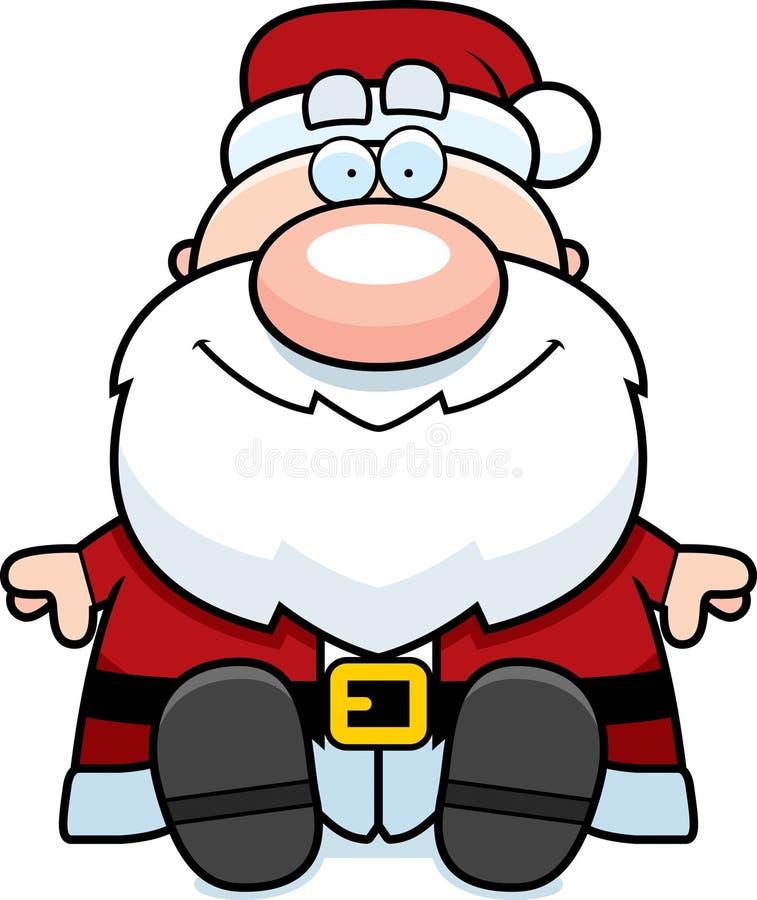 Desenhos animados Santa Claus Sitting ilustração stock