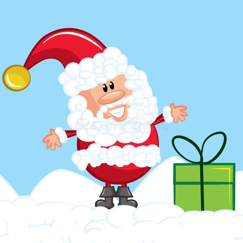 Desenhos animados Santa com uma barba branca ilustração stock