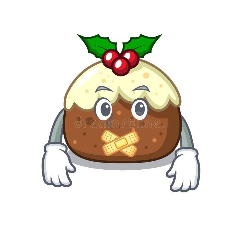 Desenhos animados silenciosos da mascote do bolo do fruto ilustração do vetor