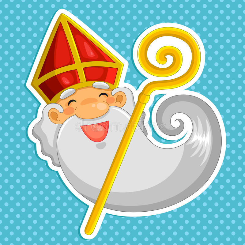 desenhos animados Sinterklaas ilustração royalty free