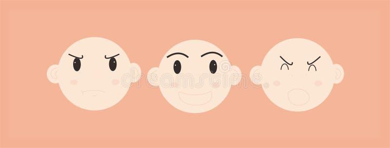 Desenhos animados sobre crianças do comportamento ilustração do vetor