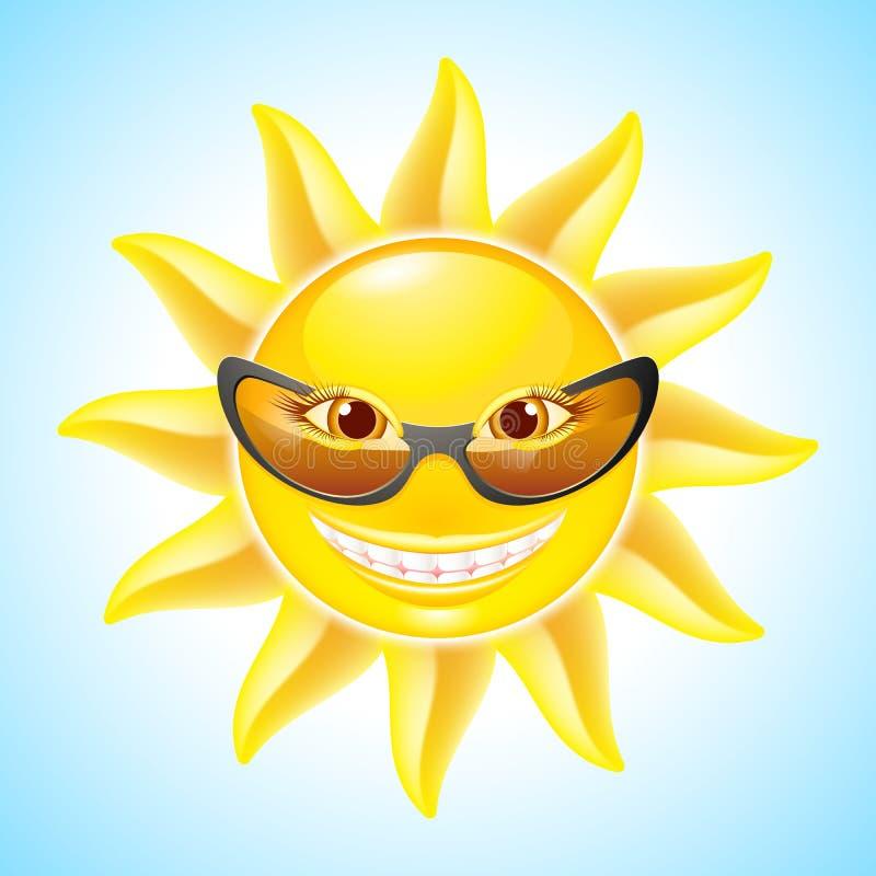 Desenhos animados Sun ilustração royalty free