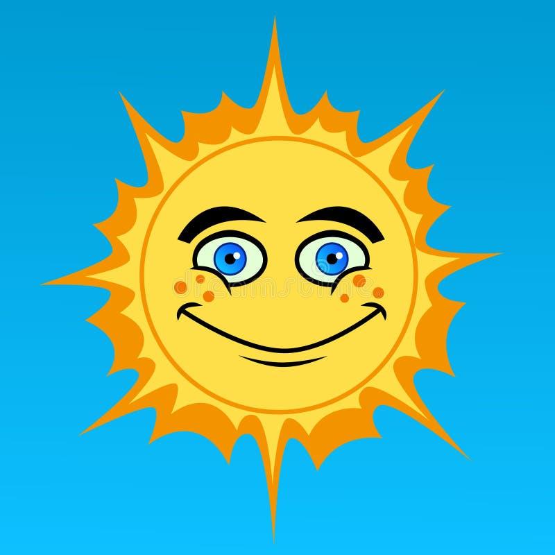 Desenhos animados Sun ilustração do vetor