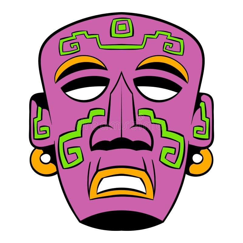 Desenhos animados tribais do ícone da máscara ilustração royalty free