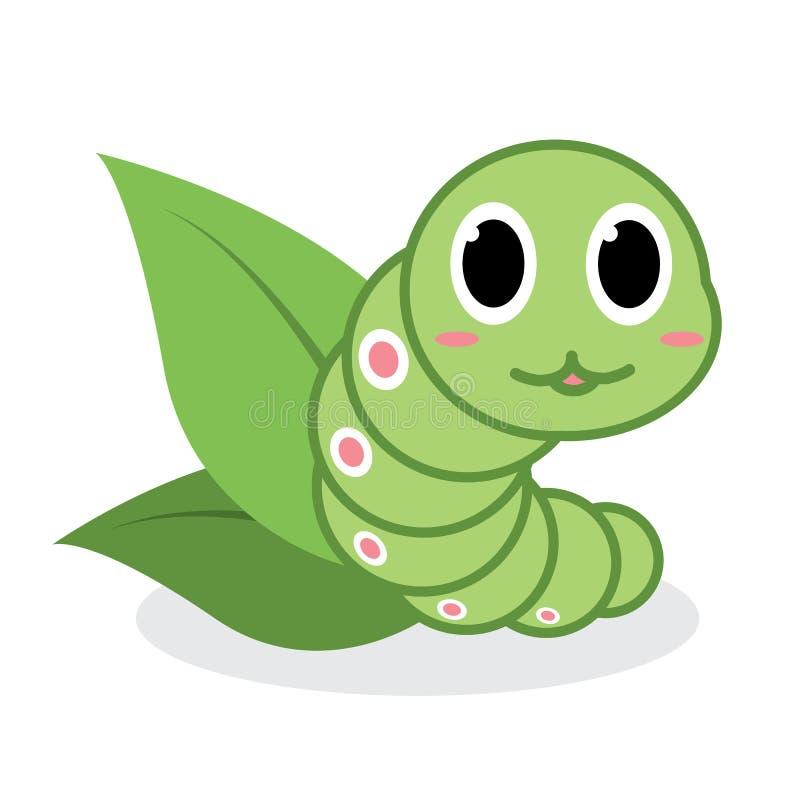 Desenhos animados verdes bonitos do sem-fim ilustração royalty free