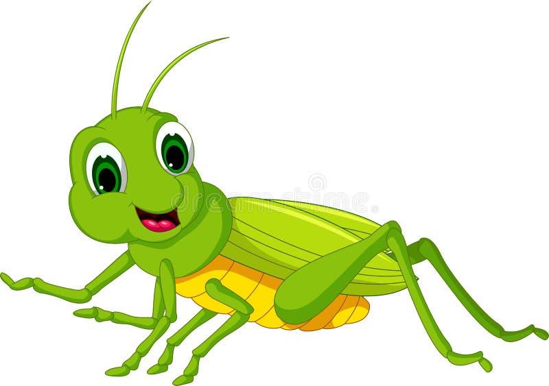 Desenhos animados verdes dos locustídeo ilustração stock