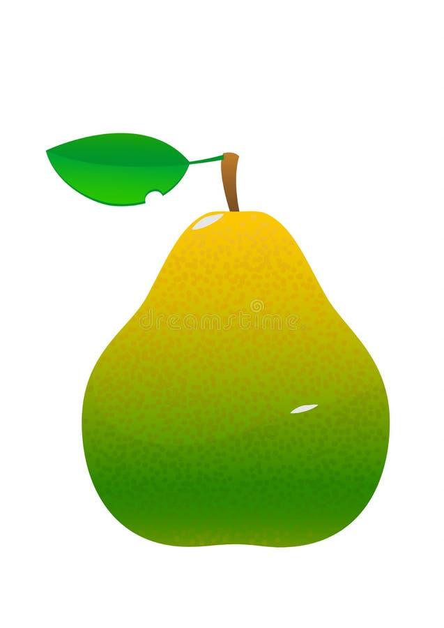 Desenhos animados verdes saborosos suculentos brilhantes da pera ilustração stock