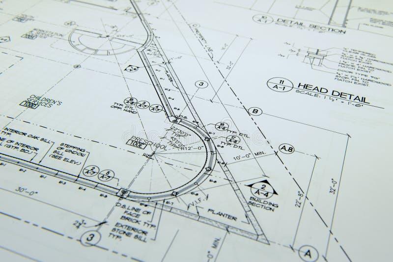 Desenhos arquitectónicos fotografia de stock